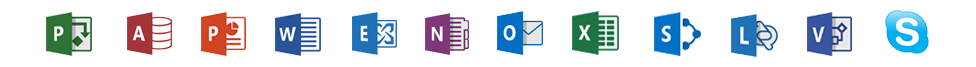 office 365 program icons